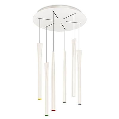 Rocket 6 Light White LED Pendant